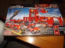 MEGA BLOKS, TRUE HEROES, FIRE STATION, 1003 PIECES, NEW IN BOX, 2013