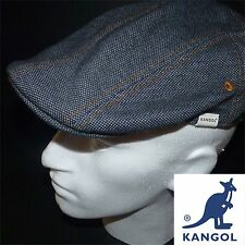 Kangol Blue Denim 507 Flat Cap Extra Large XL BNWT Rare