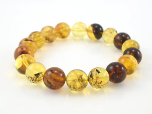 Dominican Amber Bracelet Beads Natural Gemstone Authentic 11.92 mm (15.1 g) a84