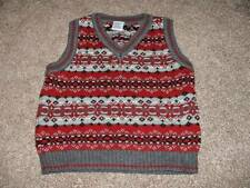Gymboree Toddler Boys All Aboard Sweater Vest Gray Maroon Size 3 yrs 3T Holiday