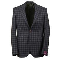 Sartoria Partenopea Green-Gray Check Wool-Cashmere Sport Coat 38R (Eu 48)