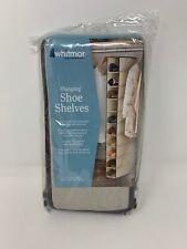 Whitmor Hanging Shoe Shelves, Tan/Espresso W