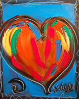 HEART Abstract Art Canvas gallery wrapped Painting  GUP998Y