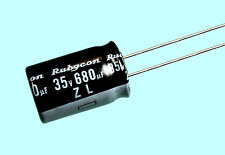 10pc Rubycon ZL 680uf 35v 105C Radial Electrolytic Capacitor Low ESR 12.5mmX20mm