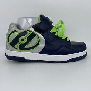 Heelys Navy Silver Green Hyper Skate Sneaker Shoe Youth Size 6