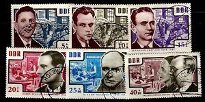 """DDR 1964: 1014 - 1019  Satz """"Antifaschisten""""  sauber gestempelt, siehe Bild"""