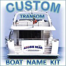 CUSTOM BOAT YACHT TRANSOM NAME + Shadow/Outline 1000mm Decal Sticker Graphic Kit
