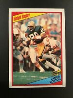 1984 Topps #273 JAMES LOFTON Instant Replay Green Bay Packers Qty Avail Sharp