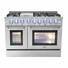 "Thor Kitchen 48"" 6 Burner Gas Range With Double Oven and Griddle."