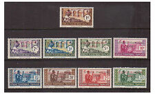 French Eq. Africa - SG 109/17 - l/m - 1940 - 1c - 35c Adherence