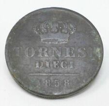 Moneta tornese 1 uno regno delle due sicilie Ferdinando II di borbone anno 1858