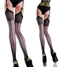Edvige Patterned Suspender Stockings 20 Denier by Fiore .