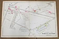 ORIGINAL 1905 32x22 Trenton NJ Atlas Colored Map Hamilton Interstate Fairground