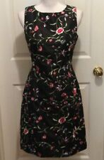Fiori di Zucca Dress 4 Black Purple Pink Green Floral Embroidery Sleeveless