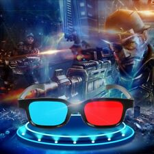 Estéreo Marco Negro Gafas 3D Rojo Azul Película De Anaglyph Dimensional