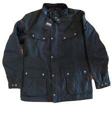 Mens new Barbour international duke waxed jacket coat size L black