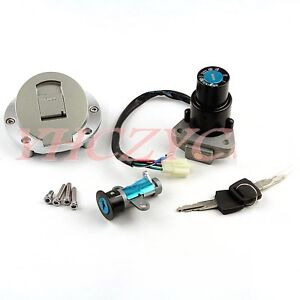 Ignition Switch Gas Cap Seat Lock Key fits Yamaha TZR125 TZM150 TZR150 TDM850