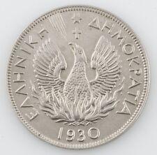 1930 GREECE 5 DRACHMA ALMOST UNCIRCULATED COIN