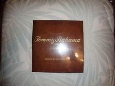 NEW TOMMY BAHAMA FLOREANA MIST BLUE 3 PIECE QUEEN COMFORTER SET