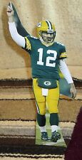 "Aaron Rogers Green Bay Packers Quarterback NFL Tabletop Display Standee 11"" Tall"