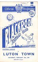 Blackpool v Luton Town 1955/6 (18 Feb)