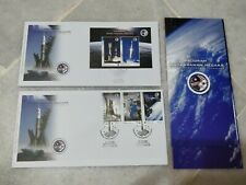 Malaysia 2008 Angkasawan Astronaut  MS + 3v  stamp FDC pair with brochure
