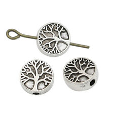 20Pcs Antique Silver Tree of Life Spacer Beads Jewelry Making Accessories DIY