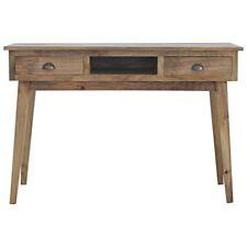 Writing Desk Vintage Handmade Wood  | Office Antique Style 2 Drawers & Shelf