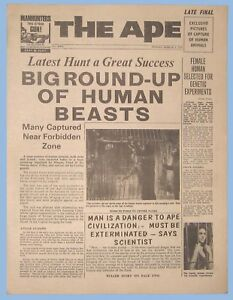 "VINTAGE - PLANET OF THE APES - 1968 - MOVIE PROMOTIONAL NEWSPAPER - ""THE APE"""