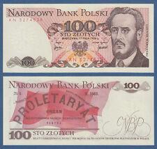 POLEN / POLAND 100 Zlotych 1976 UNC  P.143 b