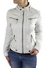 f69c758b5b25 Ladies Leather Jacket Biker Slimfit Lamb Nappa Real Vintage Look Ela