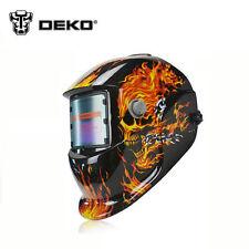 DEKO Skull Solar Auto Darkening Welding Helmet Arc Tig MIG Certified Welder Mask