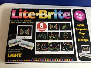 Basic Fun Lite Brite Magic Screen Light Bright Bonus Set 326 Pieces 8 Templates