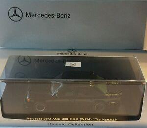 """Mercedes AMG 300E 5.6 """"The Hammer"""" schwarz 1:43 Spark orig.Mercedes Verpackung"""