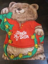 Vintage Shirt Tales Fabric Craft from hallmark completed Christmas jingle bells