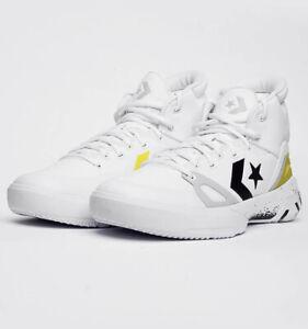 Converse G4 Hi Men Basketball Shoes Sneakers New White Black Lemon 169512C