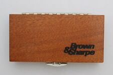 Brown & Sharpe 599-1-9999 Micrometer Wood Case, Brand New