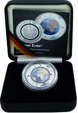 Deutschland 5 Euro 2016 Planet Erde Münze in Farbe