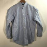 Ralph Lauren Men's Size 15 1/2-34 Blue Yarmouth 100% Cotton Oxford