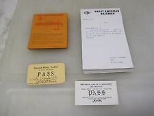 Lot Of Vintage Great American Railroad Model Train Enthusiast Passes A5163