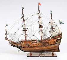 "Wasa 38"" Handmade Swedish Wooden Tall Ship Model 17th Century Plank-On-Frame"