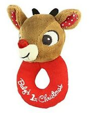 KIDS PREFERRED RUDOLPH THE RED NOSE NOSED REINDEER RING RATTLE BABYS 1ST XMAS