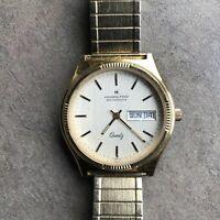 Vintage Hamilton Quartz 908080 Mens Day Date Calendar Wrist Watch Bin H