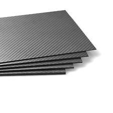 2pcs 250x400x0.3mm 100% Real Carbon Fiber plate panel sheet 3K twill Matte
