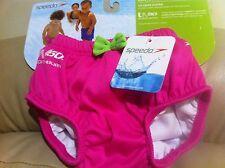 New Speedo Girl Baby Newborn UV Swim Diaper Size M (12 M)