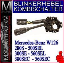 Mercedes 380sec 500sec 560sec w126 Clignotant Levier Combi Interrupteur Lenkstock levier NEUF