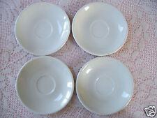 D'Moda FINE PORCELAIN Italy Design Set  Of 4 Dematasse White Saucers