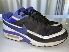 Men's NIKE Air Max BW OG Persian Violet + Black White Sneakers  US 10