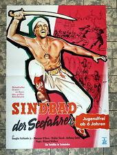 SINDBAD DER SEEFAHRER * FAIRBANKS JR - A1-FILMPOSTER WA -Ger 1-Sheet RR 1950/´68