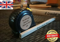 Personalised Engraved Tape Measure Father Grandad idea Gift Birthday tool box